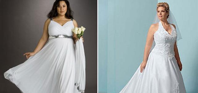 Свадебное платье для полной девушки: А-силуэт и греческое