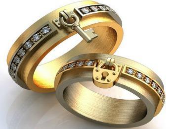Изделия с одинаковым дизайном для жениха и невесты