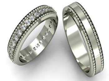 Серебрянные колечки для новобрачных
