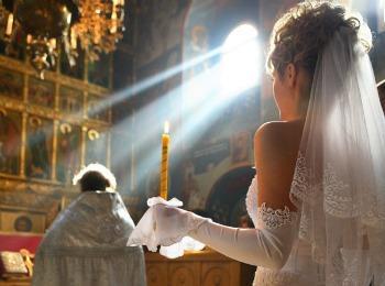Романтический обряд церковного брака