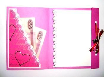 Свадебная поздравительная открытка-кошелек