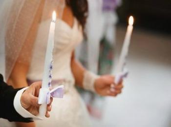Красивые свечи для церковного бракосочетания
