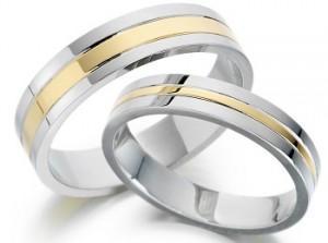 Стильные парные обручальные кольца