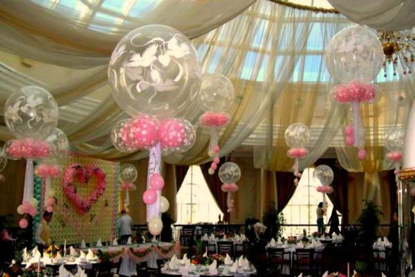 Панорамные воздушные шары с рисунком для свадьбы