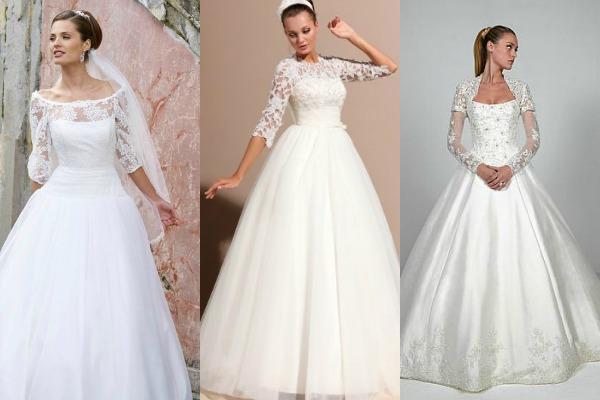 Пышные наряды для невесты с ажурными деталями