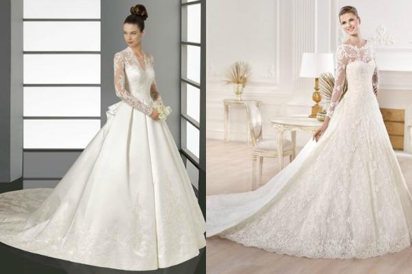 Длинный шлейф для стильных невест