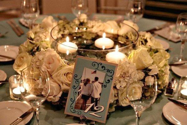 Плавающие свечи для банкетного стола