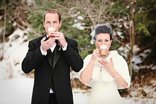 Горячий шоколад для жениха и невесты