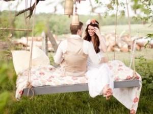 Приятная и романтичная свадьба в стиле Бохо на природе