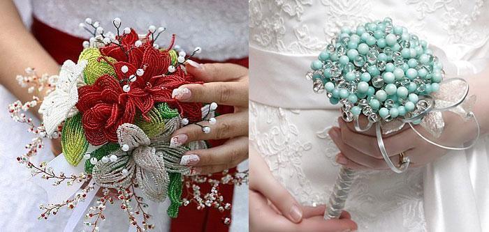 Искусственный букет цветов своими руками фото