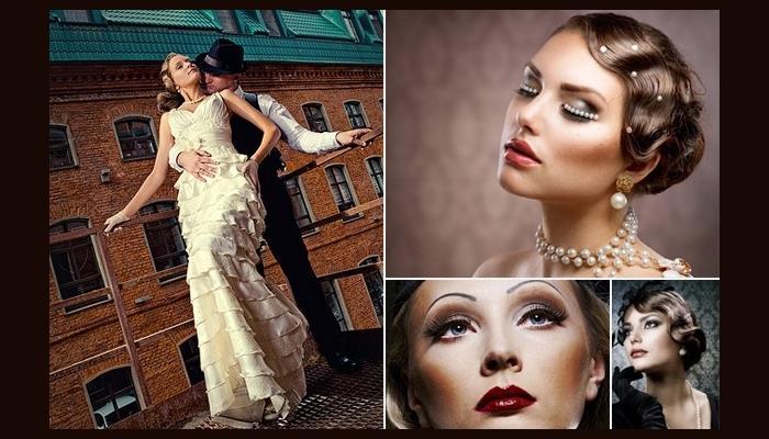 Платье и макияж невесты в стиле Чикаго