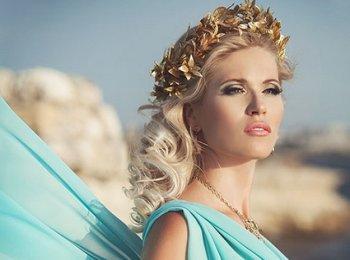 Греческий вариант макияжа для свадьбы