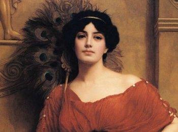 Невеста Древнего Рима с подкрашенными бровями