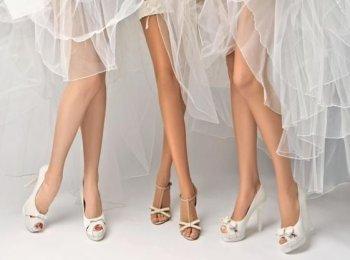 Белые свадебные туфли с удобными каблучками
