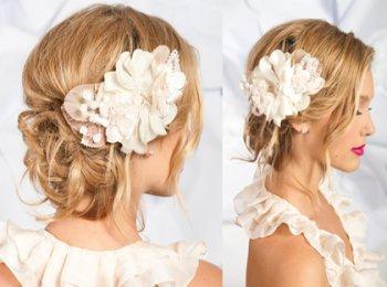 Живые цветы - отличная альтернатива фате для невесты