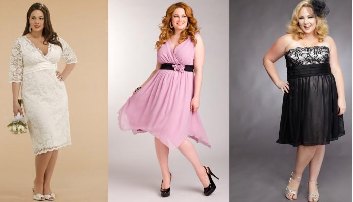 Интересные варианты стильных платьев для фигуры Яблоко длиной чуть ниже колена