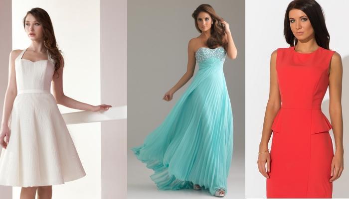 Изящные нарядные платья для широкоплечих девушек