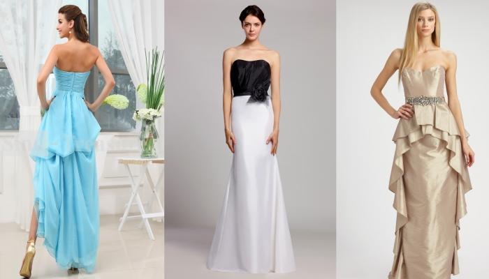 Длинные платья, снимающие акцент с широких плеч