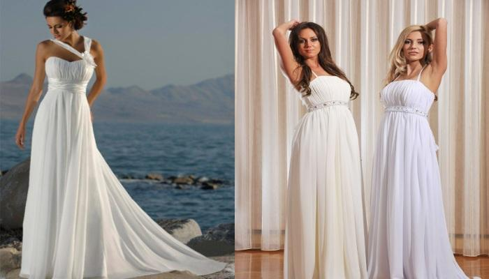Изящные усовремененные платья в стиле ампир