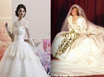 Пышные каркасные платья на свадьбу в испанском и венецианском старых стилях