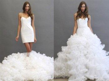Платье трасформер на свадьбу - одно из наиболее удобных и модных