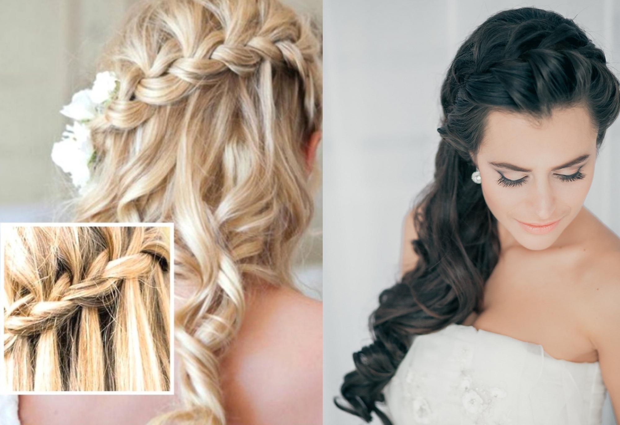 Причёска для длинных волос на свадьбу для гостей