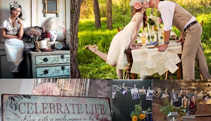 Цветовая гамма винтажной свадьбы
