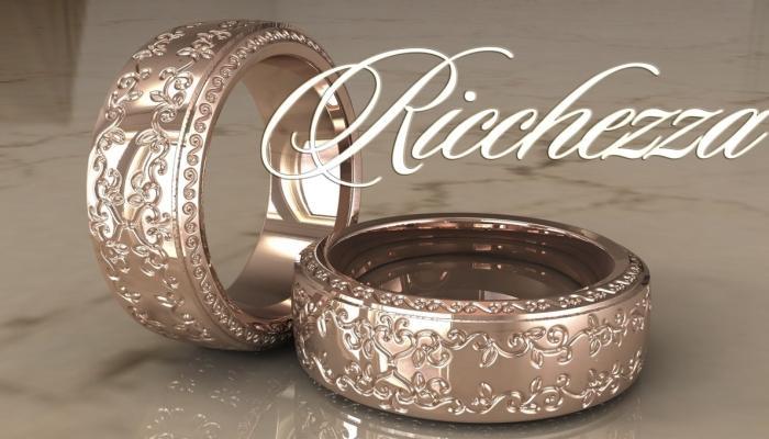 Изящные парные кольца с ажурным орнаментом
