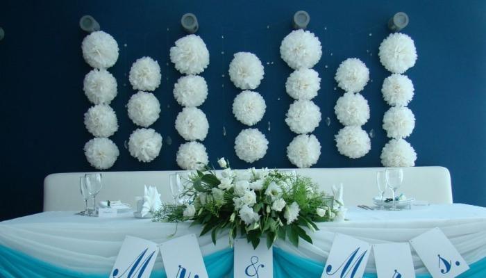 Фото украшение зала на свадьбу шарами фото
