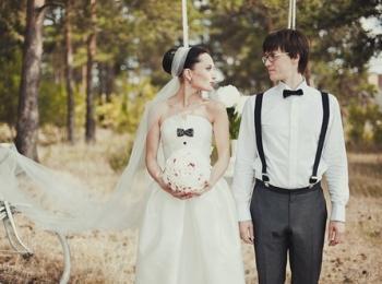 Образ жениха и невесты в стиле рустик