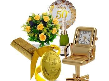 Атрибуты для проведения золотой свадьбы