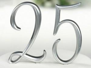 25 лет - серебряная годовщина свадьбы - как ее провести?