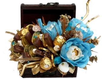 Сундучок с конфетами - прекрасный вариант подарочков для гостей