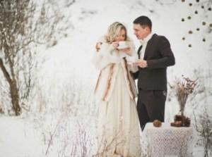 Идеи для свадебной фотосессии зимой - что понадобится?