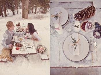 Интересную тематическую свадьбу можно организовать в любое время года, даже лютой зимой