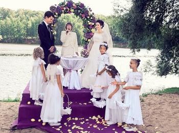 Нежная свадьба, оформленная в лавандовом цвете