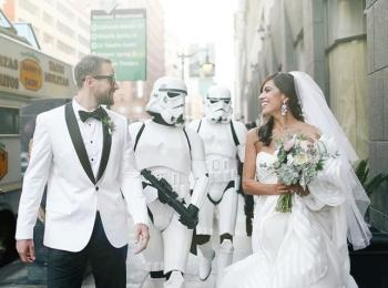 Свадьба в стиле Звездных войн или любого другого любимого фильма - отличное решение