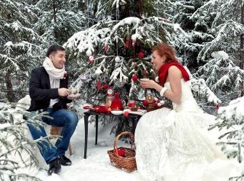 Зимняя свадьба будет пронизана праздничной атмосферой, несмотря на холодную погоду