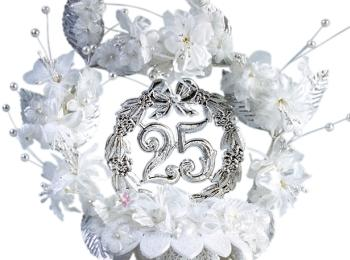 На серебряной свадьбе (25 лет) принято обмениваться серебряными кольцами