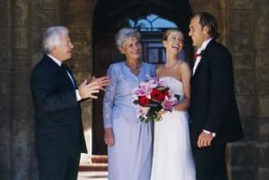 Родители поздравляют своих детей с днем свадьбы