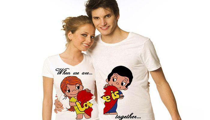 Парные футболки с надписями