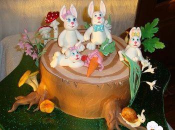 Декорированный торт по особенному случаю