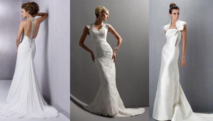 Нарядом жены может быть также белоснежное платье