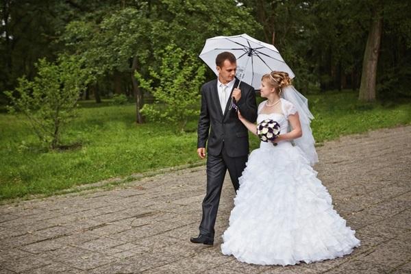 Красивое фото под зонтиком