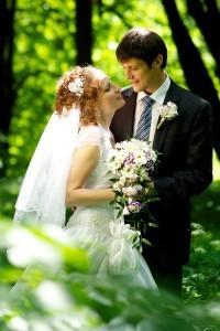 Наталья и её супруг на свадебном фото