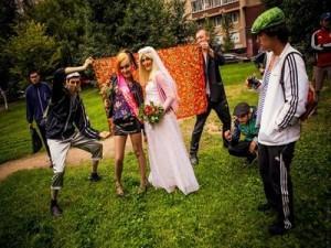 Свадьба в стиле 90х