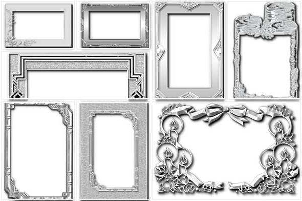 Серебряные рамки для фото