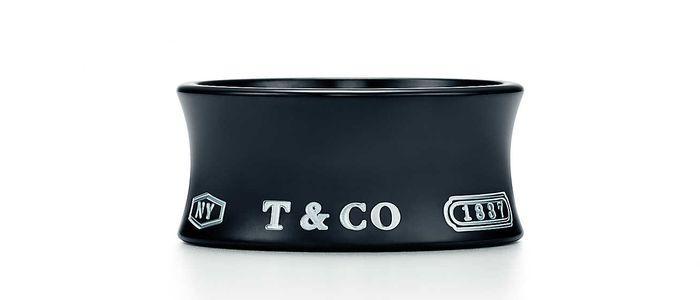 Широкое кольцо из титана