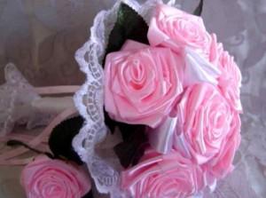 Свадебные цветы своими руками из лент