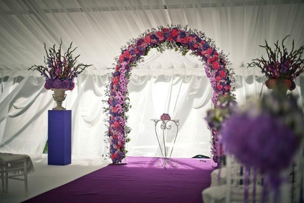 украсить зал на свадьбу своими руками